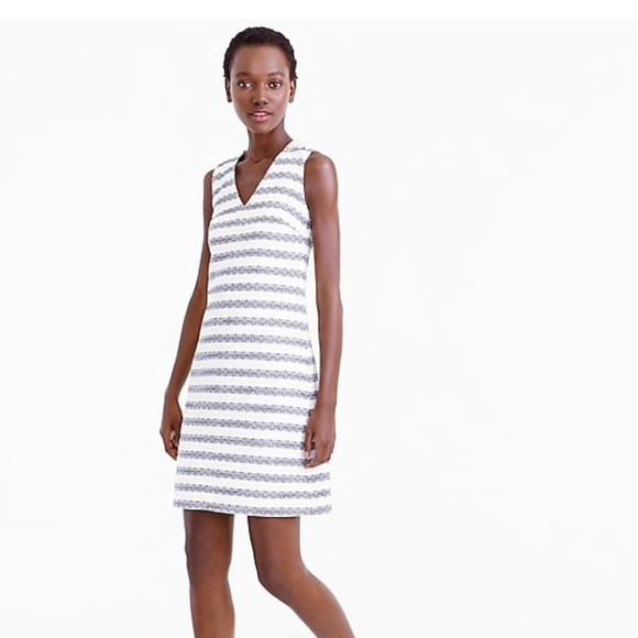 06569104 J. Crew Dresses   J Crew Striped Tweed Sheath Dress   Poshmark